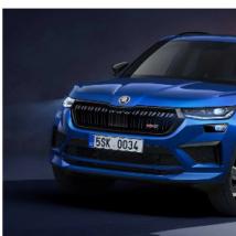 2021年斯柯达Kodiaq改款采用汽油RS模型展示