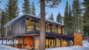Tahoe的集装箱房待售因为模块化山峰起步
