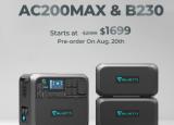 Bluetti推出采用B230和B300电池模块的AC200Max离网电站