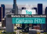 加州写字楼交易的前5大市场